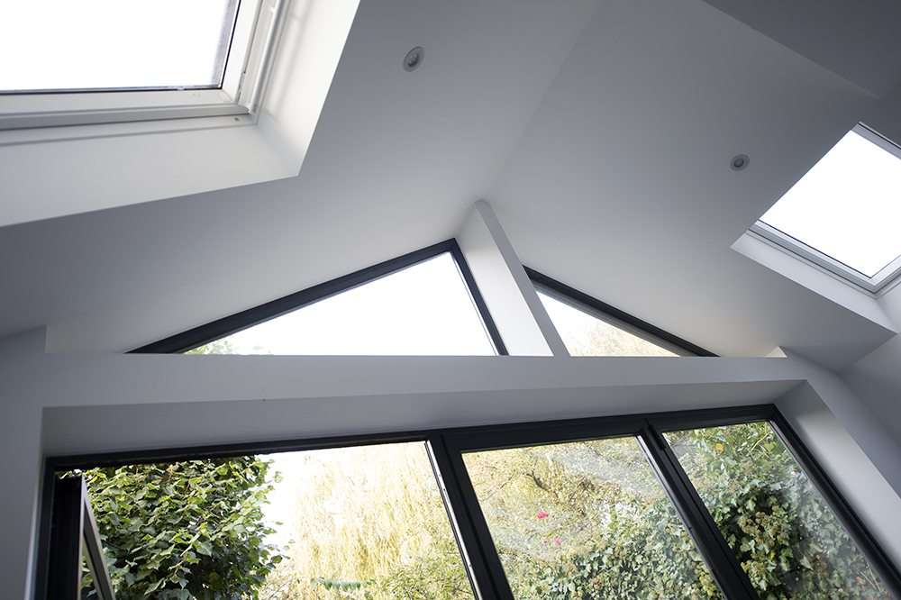 Kitchen Extension U2013 Glass Apex Above The Patio Doors