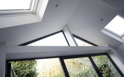 Kitchen extension – glass apex above the patio doors
