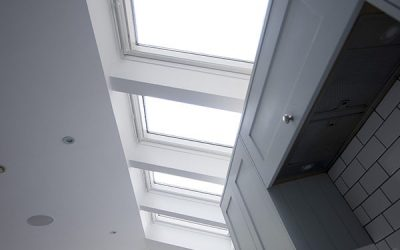 Kitchen Extension – Velux windows allow plenty of ventilation in the summer months